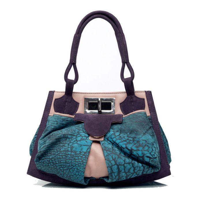 'Anya sushko London' Bowgard Handbag in Pink Nappa & Purple.