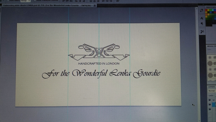 Designing the embossed message