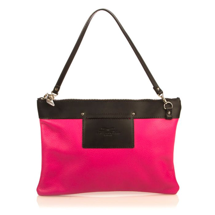 The Prize: The Mini Hiss Clutch in Passion Pink!