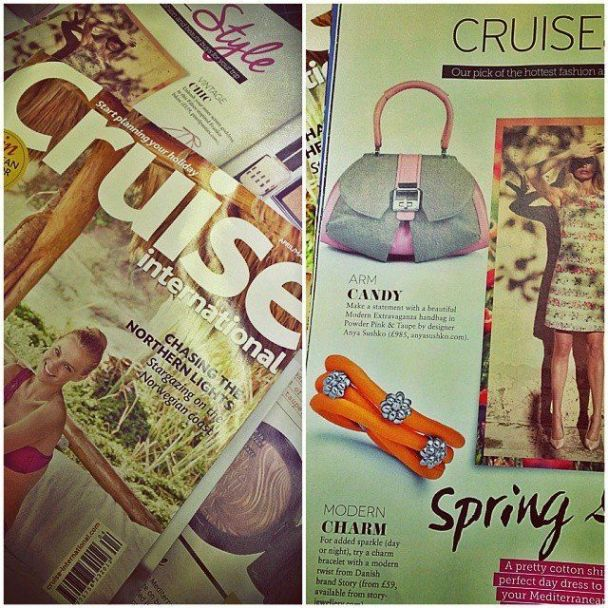 Referenced by Cruise as 'ARM CANDY' the Modern Extravaganza Bag in Powder Pink & Taupe!