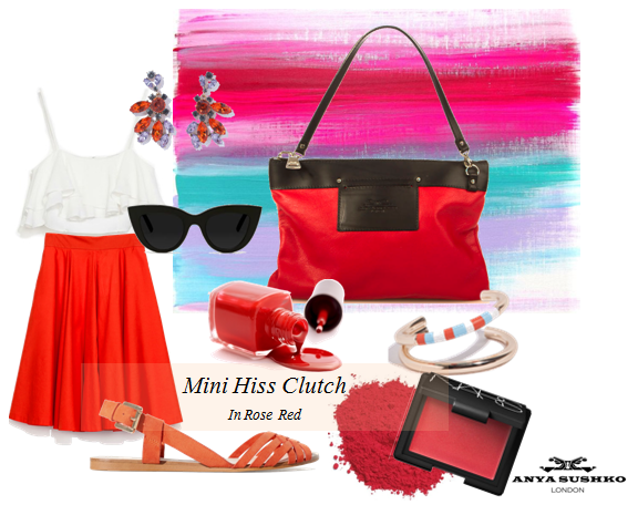 Our styling tips on how to wear the Mini Hiss Clutch!