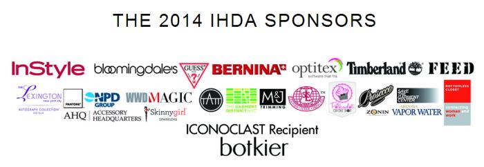 The sponsors on the Independent Handbag Designer Awards 2014!