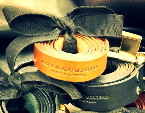 Leather belts by Anya Sushko London