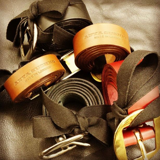 Bespoke leather belts ready for delivery