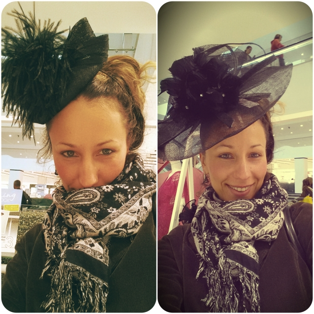 Creative Director Anya Sushko trying on some lovely hats