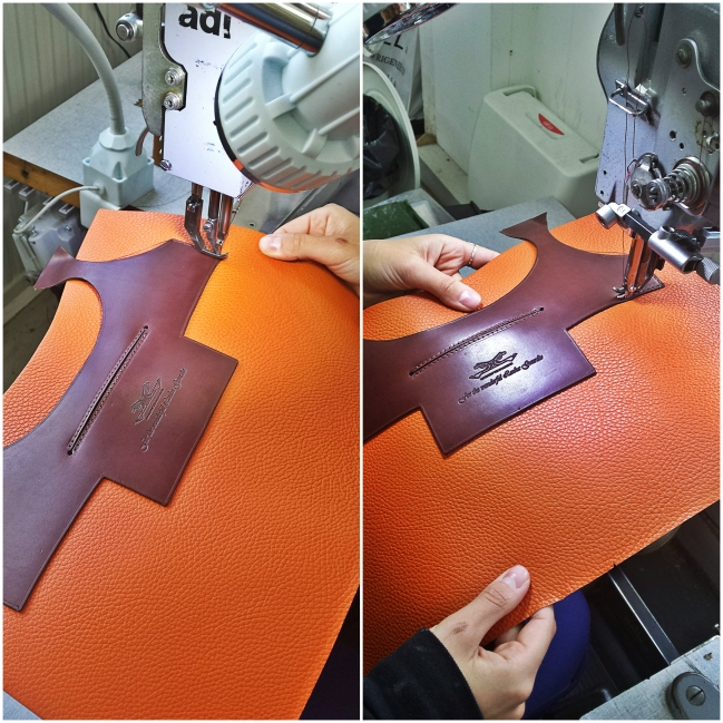 Stitching of front and back parts