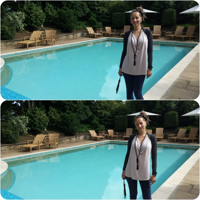 Creative Director Anya near the pool services of Calcot Spa
