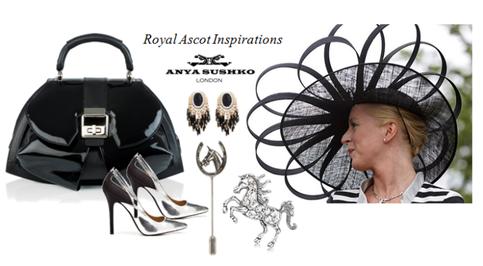 The modern Extravaganza Bag in Black Patent