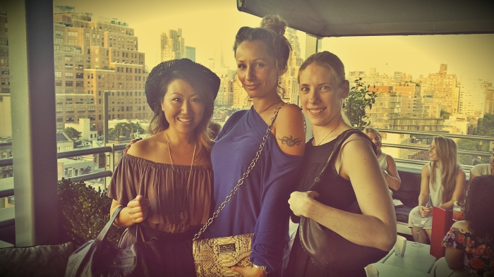 Anya and two of the other shortlisted designers