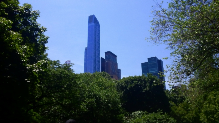 The skyscrapers over Central Park