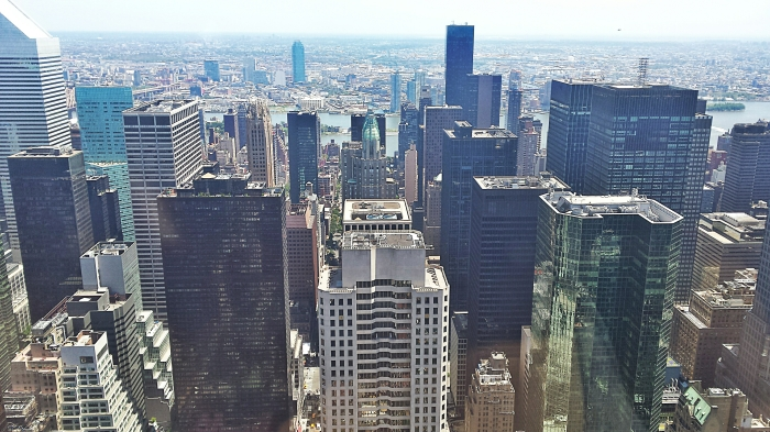 View from Rockefeller Plaza which we enjoyed during our free time in New York