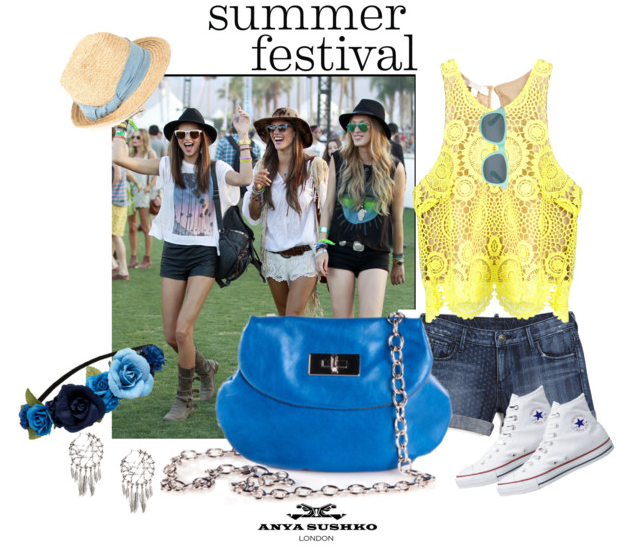 Festival styling tips for the Anya Sushko Heart Purse in Sky Blue