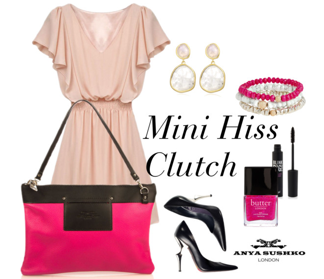 Styling tips for the Mini Hiss Clutch in Passion Pink