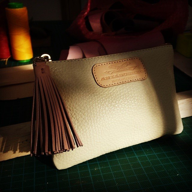 The finished product-The Berry Mini Purse in Ivory!
