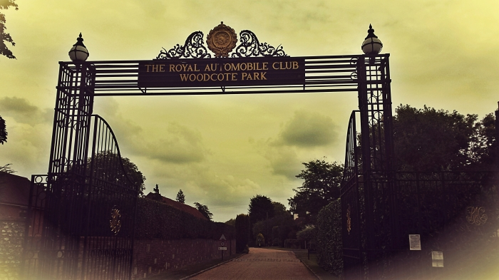 Grand iron entrance gates to the Club Grounds