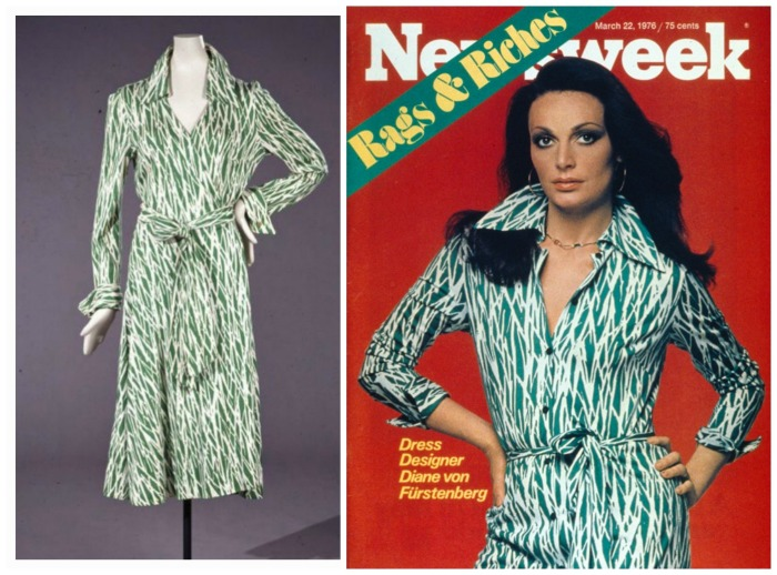 Diane von Furstenberg, on the cover of Newsweek with the iconic wrap dress