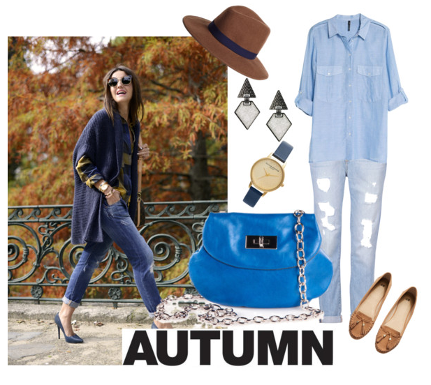 Autumn Strolls with the Heart Purse in sky Blue!
