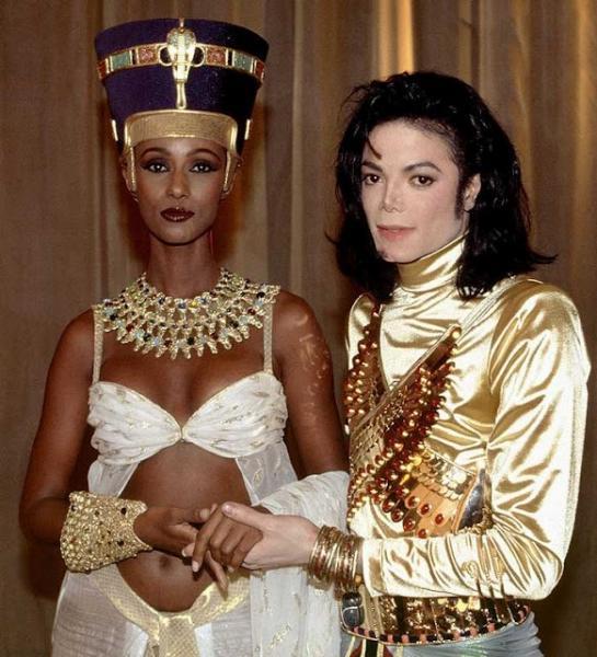 Iman with Micheal Jackson