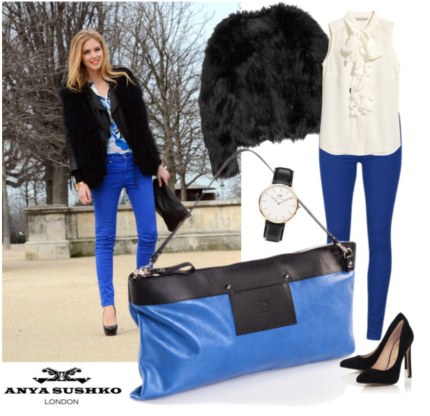 Styling tips for the Hiss Clutch in Sky Blue.