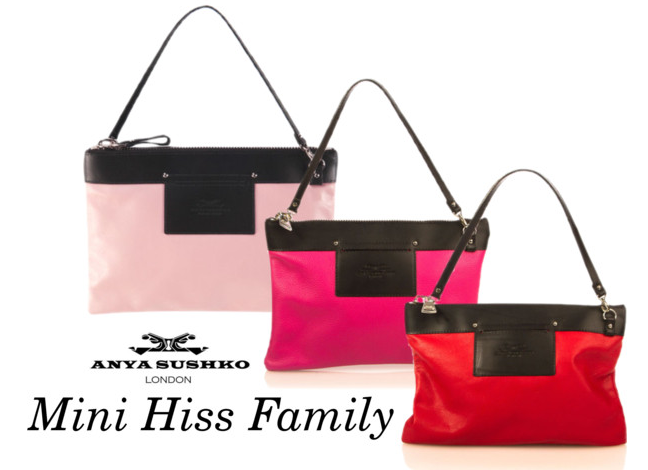 The Mini Hiss Clutches in bright colours!