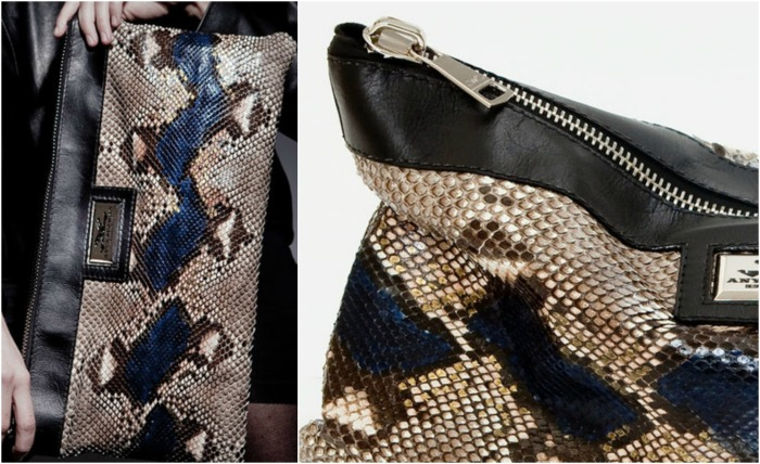 The Exotic Hiss Camelot Python Clutch