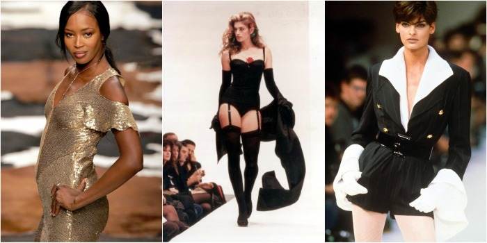 Naomi Cambell. Cindy Krawford and Linda Evangelista