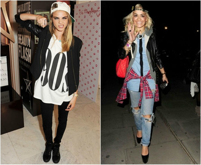 Cara Delevigne & Rita Ora's spotted 90s look!